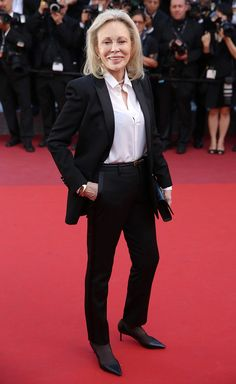 Faye Dunaway at The Last Face premiere, Cannes 2016