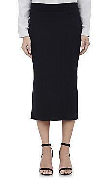 Rib-Knit Midi Tube Skirt