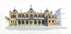 Royal Hall Harrogate - sketch - John Edwards