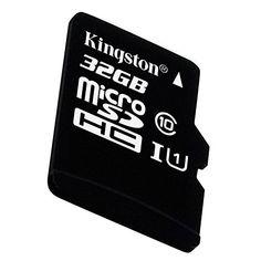 32Go microSDHC Class 10 UHS-I 45MB/s lecture carte + adaptateur SD Vitesses UHS-I Classe 10 de 45Mo/s en lecture et 10Mo/s en écriture Petit format