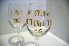 Big Little Greek Wine Glass Set Sorority by AdventuringBean