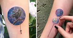 Eva Krbdk is a tattoo artist based in Istanbul, Turkey. We've featured her work before when we brought you her fantastically quirky cross-stitch tattoos, and now we'd like to introduce you to her latest creation, namely these beautiful miniature circle tattoos.