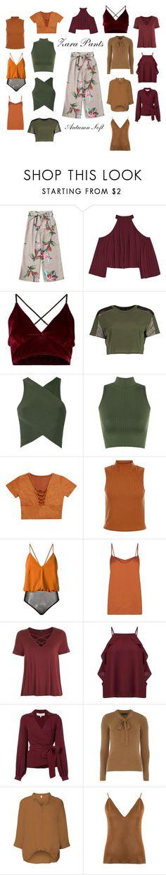 """Autumn Soft - Zara Pants"" by beauty-love-1 on Polyvore featuring moda, W118 by Walter Baker, Boohoo, EGREY, WearAll, Andrea Marques, Topshop, Miss Selfridge, Carolina Herrera e Dorothy Perkins"