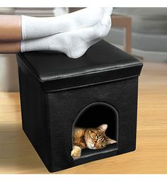 With the Pet Home and Ottoman you can provide your dog or cat with a cozy den as well as giving yourself a comfortable footrest
