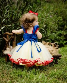 SNOW WHITE dress girls princess  costume by loverdoversclothing, $65.00