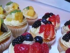 Vanilla and fruit cupcakes