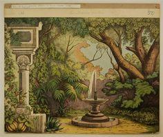Schreiber: Orientalischer Garten - Hintergrund Nr. 50 (Alte Ausgabe, großes Format)