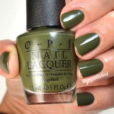 Suzi-The FIrst Lady of Nails is a gorgeous swampy green polish. New from the OPI Washington DC Collection 2016 (Fall/ Winter). Opi Nail Polish, Opi Nails, Opi Washington Dc, Opi Collections, Pretty Nails, Swatch, Nail Art, Fall Winter, Live