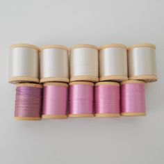 Lot of 10 VINTAGE BELDING CORTICELLI PURE SILK THREAD White Pink Sz A 50 yrd sld 13.5+2.66 3bds 2/27/18 Silk Thread, Pure Silk, 50th, Lipstick, Pure Products, Pink, Ebay, Vintage, Lipsticks
