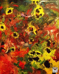 "Oil on Canvas   48x60   ""Water Garden"" Melissa Ayr, Artist"
