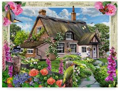 Countryside Vacation Home pieces) Canvas Home, Canvas Art, House Canvas, Cottage Art, Outdoor Lounge, Your Paintings, Countryside, Jigsaw Puzzles, Scenery
