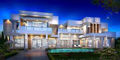 Big Modern Houses, Best Modern House Design, House Front Design, Modern Mansion, Modern House Plans, Big Houses Exterior, Luxury Homes Exterior, Luxury Homes Dream Houses, Dream House Exterior