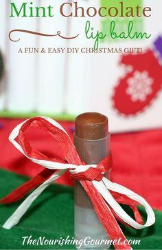 DIY Skin Care Recipes : Mint Chocolate Lip Balm: A Fun and Easy DIY Christmas Gift Idea!  Simple Pure B