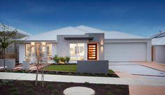The Atlantic - Redink Homes Exterior colours? Facade House, House Roof, Modern Exterior, Exterior Design, Hip Roof Design, Single Storey House Plans, Gable House, House Design Pictures, Modern Ranch