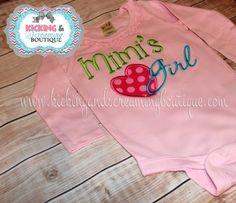 Mimi's Girl Embroidered Shirt  BFF Shirt by KickingandScreaming1, $24.00