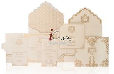 Custom Luxury Invitations- Couture Ivory and Gold wedding Invitation  - Metallic Invitations - InviteCouture Original Design