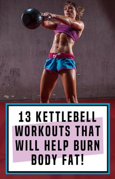 13 Crazy Kettlebell Workouts That Will Help Destroy Body Fat! Full Body Workouts, Fun Workouts, Fitness Exercises, Interval Workouts, Stomach Exercises, Workout Exercises, Workout Routines, Workout Plans, Pilates Training