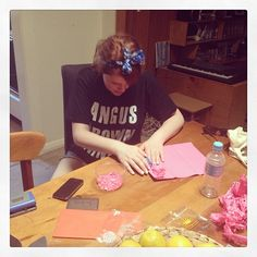 "photo: ""Making our own confetti because you can't buy it anymore. Best producer ever! Confetti, Behind The Scenes, T Shirts For Women, How To Make, Stuff To Buy"