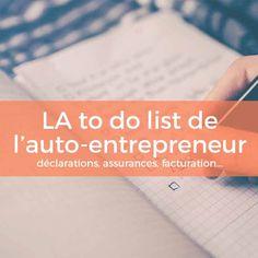 Voici enfin LA to do list de l'auto-entrepreneur : toutes les obligations réunies dans un document unique à imprimer et accrocher à son bureau. Tout ce que vous devez payer, votre assurance, vos devis et factures... et même les coordonnées des administrations !