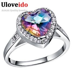 Find More Rings Information about Uloveido Silver Plated Engagement Rings for Women Simulated Diamond Bridal Love Heart Ring  Aliancas De Casamento Jewelry J480,High Quality engagement rings for women,China engagement ring Suppliers, Cheap rings for women from Ulovestore Fashion Jewelry on Aliexpress.com