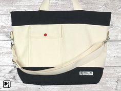 Handtasche vegan, Maritime Strandtasche von BELAINE Manufaktur auf DaWanda.com