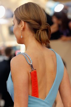 Sure, Brie Larson's Versace dress was a major head turner at Saturday's SAG Awards in Los Angeles — but how about that updo? What looks like a simple Versace Dress, Sag Awards, Brie Larson, Red Carpet Looks, Updos, Celebrities, Instagram Posts, Hair, Captain Marvel
