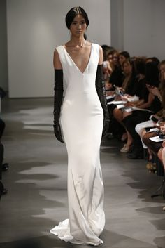 Vera Wang Bridal 2014.  Looks like Caroline Bessette Kennedy's dress by Narcisso Roderigue.  Beautiful.
