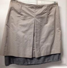 Brunello Cucinelli Frannel Polyester Skirt Beige