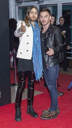 Shannon Leto & Jared Leto on the Emma Gala Red Carpet, Finland (07.03.2014).
