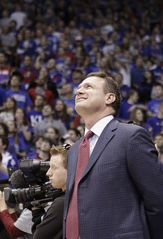 Kansas University's Coach Bill Self. Go Jayhawks!