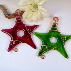 Fused Glass Star Suncatchers