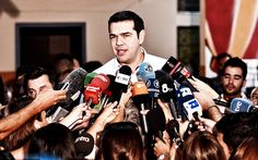 "BACK FROM THE DEAD: Just weeks after he was forced to resign and step down, Greek Prime Minister Alexis Tsipras hailed a stunning upset 'victory for the people' tonight, after his left-wing Syriza party won its third national vote this year. The power behind him truly seems to be ""out of this world"". #AlexisTsipras #Greece http://www.nowtheendbegins.com/blog/?p=35687"