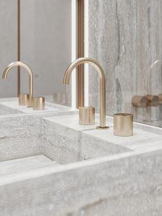 #SILVER_QUADRO on Behance Luxury Homes Interior, Interior And Exterior, Interior Architecture, Dream Home Design, House Design, Parisian Kitchen, Bathroom Design Luxury, Bathroom Designs, House Goals