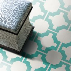 Linoleum tile that actually looks pretty! Could be practical and fun?