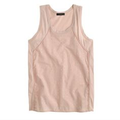 J Crew Embellished Tank Worn once, freshly cleaned. No stains or holes. No missing stones. J. Crew Tops Tank Tops