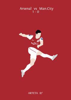 For Andrew Cowan Football Icon, Football Art, Mikel Arteta, Fa Cup, Arsenal Fc, Graphic Design Inspiration, Premier League, Gun, Fan Art