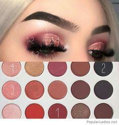 Nice pink eye makeup style