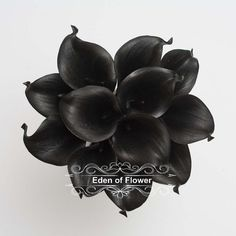 Black Calla Lilies Real Touch Calla Lily Bouqet for Bridal Bouquets, Wedding Centerpieces, Home Decorations, Boutonnieres, Corsage Calla Lily Bouquet, Calla Lilies, Black Calla Lily, Art And Technology, Flower Petals, Corsage, Fresh Flowers, Artificial Flowers, Flower Decorations
