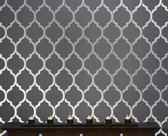 Beautiful Quatrefoil Moroccan Wall inspired Modern Designer Pattern