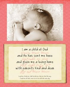 God personalized baby announcement/hanging for baby room. kids cute baby an Cute Baby Announcements, Fun Baby Announcement, Birth Announcement Wording, Baby Pictures, Baby Photos, Newborn Pictures, Cute Kids, Cute Babies, Foto Fun