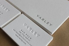 Letterpress Business Cards on Pure White Cotton stock by MapleTea