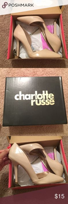 Brand new Charlotte Russe heels Never worn Charlotte Russe nude pointed toe heels. Size 9. About 3 inches tall Charlotte Russe Shoes Heels