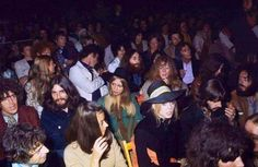 August 31, 1969 - Three Beatles and their wives watching Bob Dylan at the Isle of Wight. Paul was absent because Linda had just given birth to Mary on August 28, 1969.