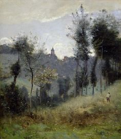 Jean Baptiste Camille Corot | Canteleu near Rouen, 19th cent… | Flickr - Photo Sharing!