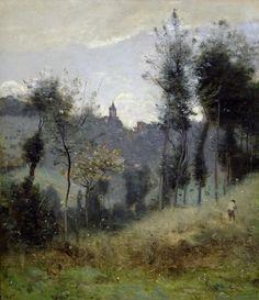Jean-Baptiste Camille Corot (1796-1875) - Canteleu près de Rouen, 1872, huile sur toile, 50 x 57,2 cm, Musée du Petit Palais, Paris