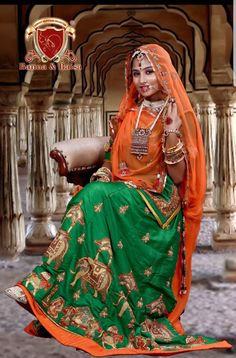 Best Rajasthani Poshak To Wear – Digital Manohar Rajasthani Lehenga, Rajasthani Bride, Lehenga Choli, Royal Dresses, Indian Dresses, Bridal Lehenga 2017, Indian Wedding Couple Photography, Bridal Photography, Rajputi Dress