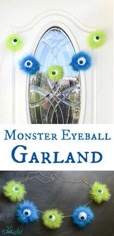 Cupcake Wishes & Birthday Dreams: Monster Eyeball Garland by Tikkido