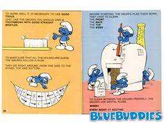 The Smurfs on dental hygiene