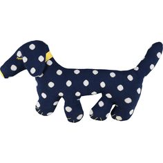 Navy Sausage Dog Cushion 25x50cm - TK Maxx
