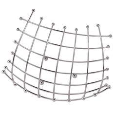 Coupe en métal effet chromé Dimensions (cm) : H 8 x L 32 x PR 32  12,99 €